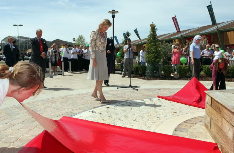 Her Royal Highness The Countess of Wessex unveiling the Children's Tile Circle.